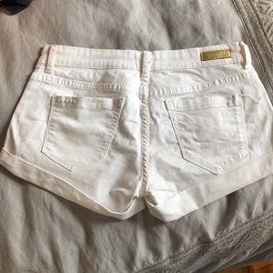 Blank NYC Shorts - Cuffed white shorts